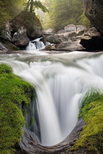 Water flowing in a gorge-Cullowhee-NC